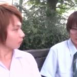 【ゲイ動画 xvideos】ヤンキー君とメガネ君…対称的な中●生男子がお互い惹かれあって他の友達にバレないようにボーイズラブSEX…