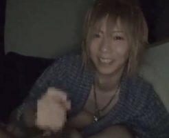 【ゲイ動画 pornhub】金髪ジャニ系イケメンの夜這い手コキフェラを完全主観!