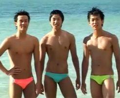 【ゲイ動画 pornhub】夏だ!海だ!アナルセックスだ!常夏ゲイBOY達が灼熱のビーチで青姦乱交SEX!