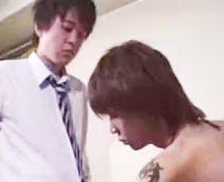 【ゲイ動画 erovideo】18歳の素人イケメン学生はタチのゲイセックスで男を悦ばせるショタ淫乱