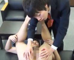 【無修正 ゲイ動画 xvideos】若手イケメン社長が体育会系スポメンを全裸にしてちんぐり返しでフェラして全身味わう就職面接