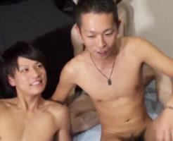 【無修正 ゲイ動画 gaytube】何度も舌を絡ませて唾液交換ベロチューし、ハーレム乱交BLセックス!イケメンちんぽがチンピク