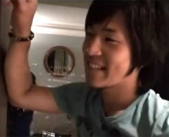 【ゲイ動画 pornhub】「彼女と来たかったな~」と高級ホテルにテンションMAXのノンケでイケメンな友人と初エッチ成功!!