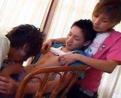 【ゲイ動画 pornhub】若者イケメン3人が昼間から性欲を持て余し、突如始まる3Pwww