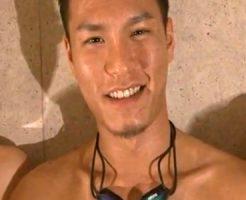 【ゲイ動画 redtube】2時間以上の大乱交!ダンディーな渋いイケメンが競泳のコスプレで掘りまくる!