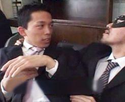 【無修正 ゲイ動画 xvideos】イケメンリーマンの社畜ゲイセックス!部長に逆らえず言いなりネクタイ目隠し!
